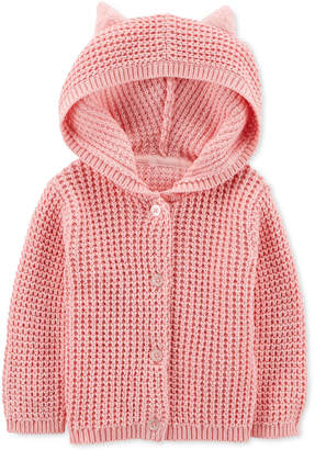 Carter's Carter Baby Girls Hooded Cardigan