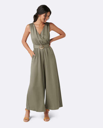 Forever New Ashley Wrap Wide Leg Jumpsuit