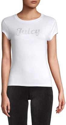 Juicy Couture Embellished Crewneck Tee