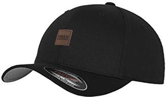 04a6ace8f9d Flexfit Urban Classic Leatherpatch Cap Baseball (Black 7)