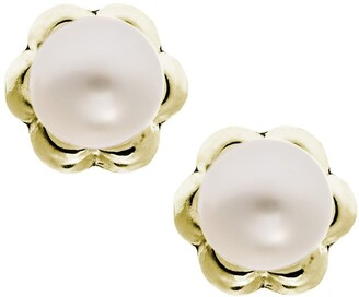 Mignonette 14k Yellow Gold & Cultured Pearl Earrings