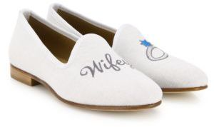 Del Toro Wifey Linen Smoking Loafers $350 thestylecure.com