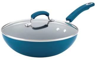 Rachael Ray Aluminum Nonstick Stir Fry Pan With Glass Lid