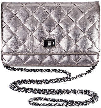 One Kings Lane Vintage Chanel Reissue Pewter Wallet on a Chain - Vintage Lux