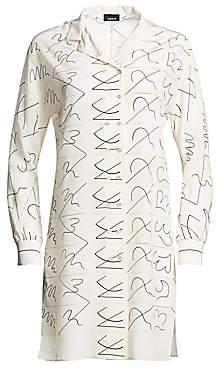 Akris Women's Leporello Silk Double-Button Tunic