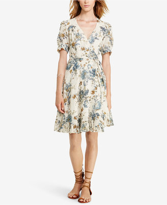 Denim & Supply Ralph Lauren Floral-Print Gauze Wrap Dress $125 thestylecure.com
