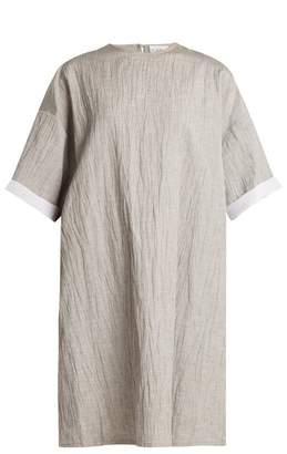 Raey Crinkle linen and silk-blend T-shirt dress