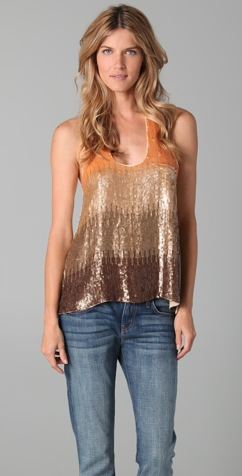 Tbags Los Angeles Sequin Tank