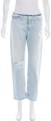 Calvin Klein Jeans Distressed Mid-Rise Jeans