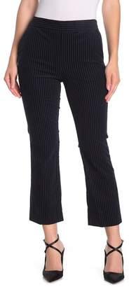 Frame Striped Crop Flared Velvet Pants