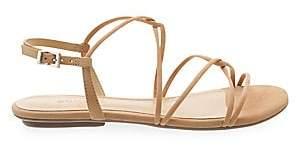 Schutz Women's Boyet Strappy Suede Flat Sandals