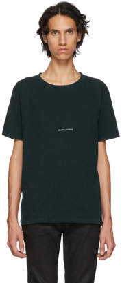 Saint Laurent Green Rive Gauche T-Shirt