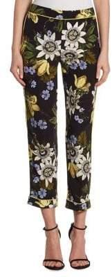 Erdem Ginnie Silk Crop Pants