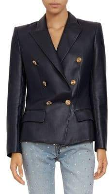 Alexandre Vauthier Double-Breasted Leather Blazer
