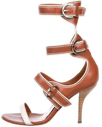 Sergio Rossi Leather Buckle Sandals