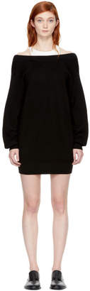T by Alexander Wang Black and Off-White Bi-Layer Dress