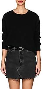 The Elder Statesman Women's Lightning Bolt Cashmere Sweater-Black