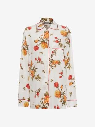 Alexander McQueen Scarf Print Pajama Shirt