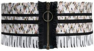 Missoni knitted zip belt