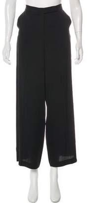 Robert Rodriguez Silk-Blend High-Rise Wide-Leg Pants