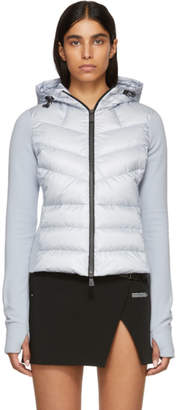 Moncler Blue Down Panelled Cardigan Jacket