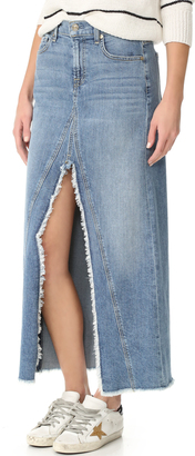 7 For All Mankind Front Slit Skirt $219 thestylecure.com