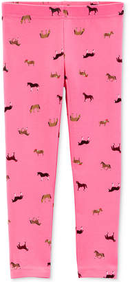Carter's Baby Girls Horse-Print Leggings