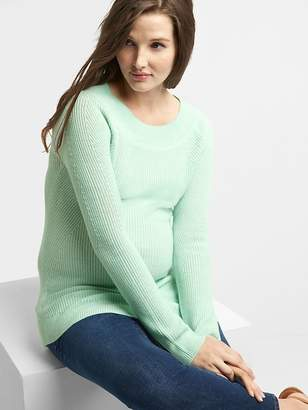 Gap Maternity Ribbed Pullover Boatneck Sweater Tunic