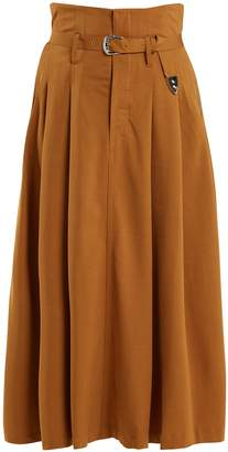 Toga High-rise belted maxi skirt