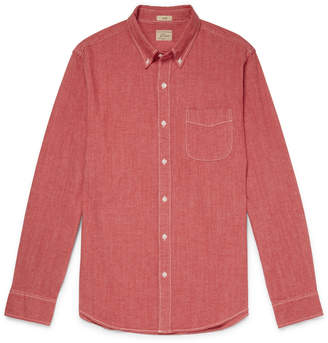 J.Crew Slim-Fit Button-Down Collar Stretch-Cotton Chambray Shirt