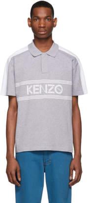 Kenzo Grey Logo Regular-Fit Polo