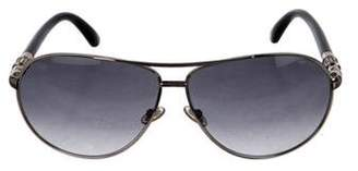 Jimmy Choo Embellished Aviator Sunglasses