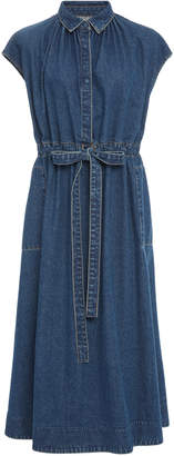 Co Drawstring Button-Down Waist Dress