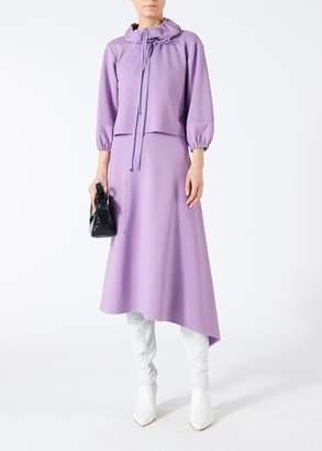 Tibi Bond Stretch Knit Anorak Pullover