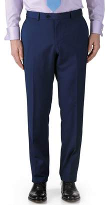 Charles Tyrwhitt Royal Blue Classic Fit Twill Business Suit Wool Pants Size W32 L32