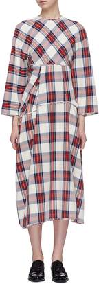 MS MIN Tartan plaid panelled dress