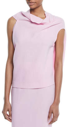Roland Mouret Draped Tieback Wool Top