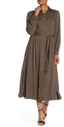 Max Studio Long Sleeve Shirt Dress