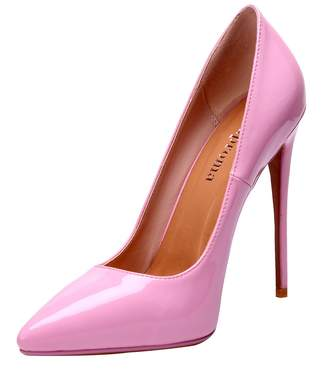 ZAPROMA Luxury Patent Pointed Toe Stilettos High Heel Pumps for Women Size 4-15 US