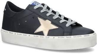 Golden Goose Leather Hi Star Sneakers