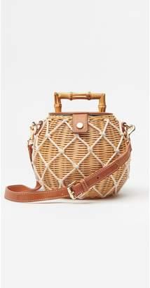 J Mclaughlin Heather Wicker Handbag