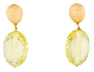 Marco Bicego 18K Yellow Quartz Drop Earrings