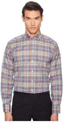 Eton Contemporary Fit Madras Plaid Shirt Men's Long Sleeve Button Up