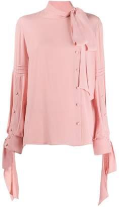 7a2ef416ea85a5 Pink Bow Tie Blouse - ShopStyle UK