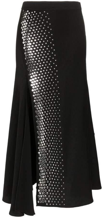 Asymmetric Studded Skirt