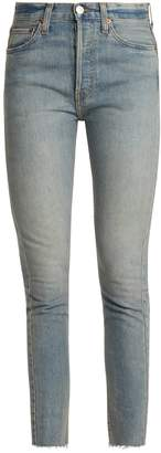 RE/DONE ORIGINALS High-rise skinny cropped jeans