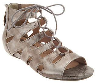 Earth Earthies Suede Ghillie Lace-up Sandals - Roma