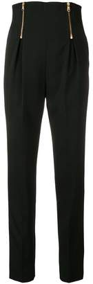 Versace high waist tapered trousers