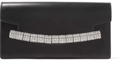 CALVIN KLEIN 205W39NYC - Crystal-embellished Leather Clutch - Black