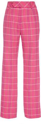 Matthew Adams Dolan Slim Plaid Wool Trouser